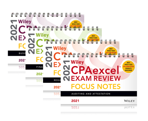Wiley Cpaexcel Exam Review 2021 Focus Notes: Complete Set Cover Image
