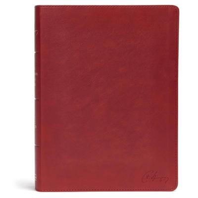 Cover for KJV Spurgeon Study Bible, Crimson LeatherTouch