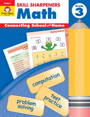Skill Sharpeners Math Grade 3 (Skill Sharpeners: Math) Cover Image