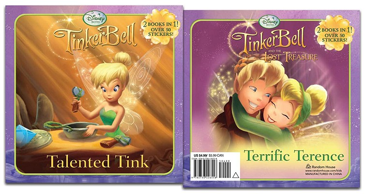 TinkerBell Talented Tink/TinkerBell and the Lost Treasure Terrific Terence [With Sticker(s)] Cover