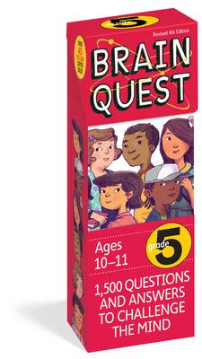 Brain Quest Grade 5, revised 4th edition: 1,500 Questions and Answers to Challenge the Mind (Brain Quest Decks) Cover Image