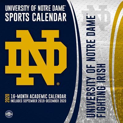 Notre Dame Fighting Irish: 2020 12x12 Team Wall Calendar Cover Image