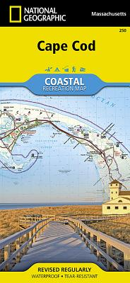 Cape Cod (National Geographic Trails Illustrated Map #250) Cover Image