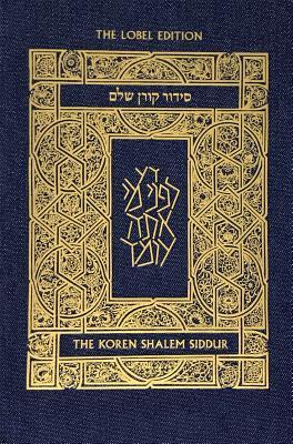 Koren Shalem Siddur with Tabs, Compact, Denim Cover Image