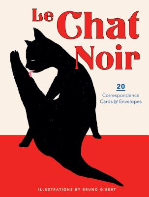 Le Chat Noir: 20 Correspondence Cards & Envelopes (Cat Cards, Cat Stationary, Gifts for Cat Lovers) Cover Image