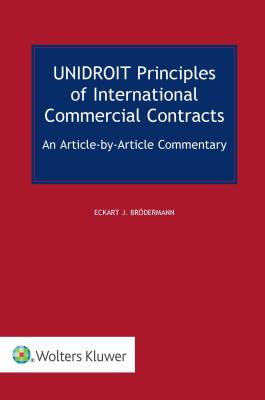 Unidroit Principles of International Commercial Contracts Cover Image
