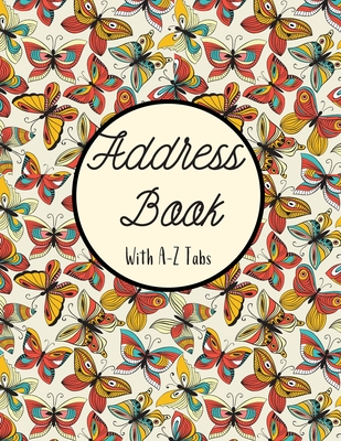 Address Book with A-Z Tabs: Large Floral Address Book (Large Tabbed Address Book). A-Z Alphabetical Tabs. Cover Image