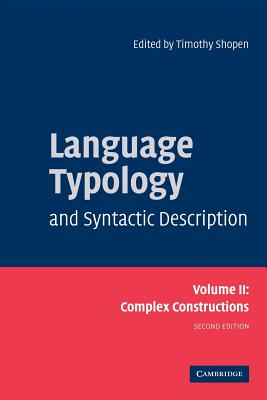Language Typology and Syntactic Description, Volume II Cover