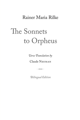 Cover for The Sonnets to Orpheus