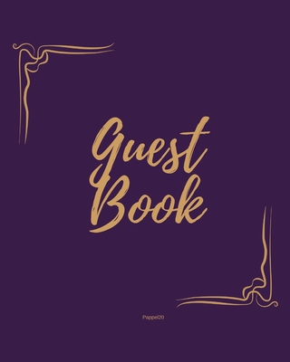 Guest Book - Golden Frame #1 on Pink Paper Cover Image