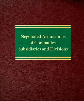 Negotiated Acquisitions of Companies, Subsidiaries and Divisions Cover Image