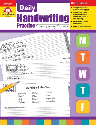Daily Handwriting Contemporary Cursive (Daily Handwriting Practice) Cover Image