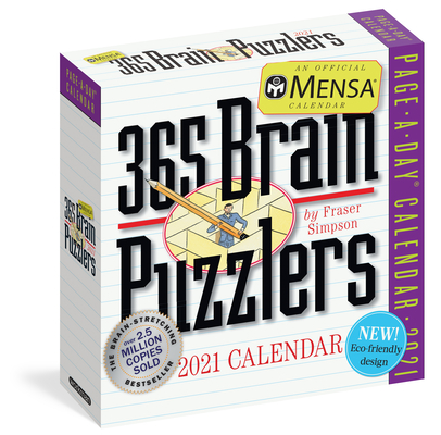 Mensa 365 Brain Puzzlers Page-A-Day Calendar 2021 Cover Image