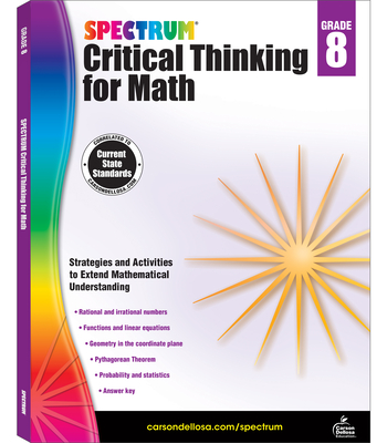Spectrum Critical Thinking for Math, Grade 8 Cover Image