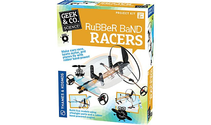 Rubber Band Racers (Geek & Co. Science) Cover Image