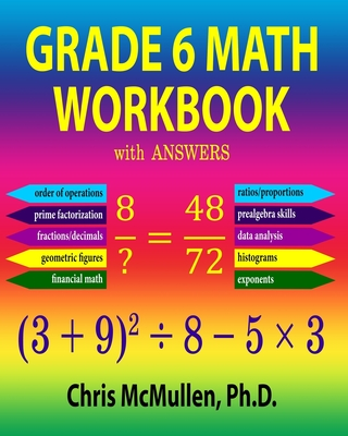 Grade 6 Math Workbook with Answers Cover Image