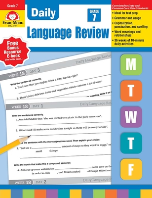 Daily Language Review, Grade 7 Te Cover Image