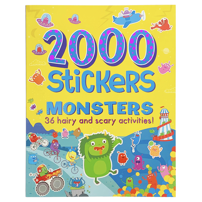 2000 Stickers Monsters Activity Book: 36 Hairy and Scary Activities! Cover Image