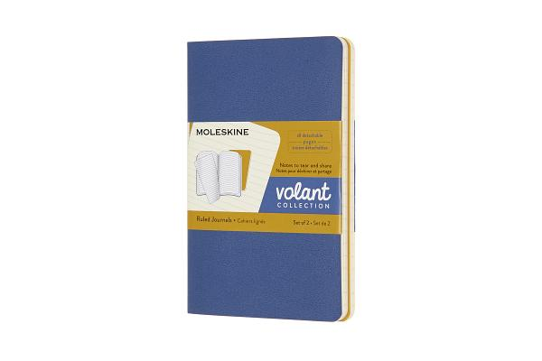 Moleskine Volant Journal, Pocket, Ruled, Forget-Me-Not Blue/Amber Yellow (3.5 x 5.5) Cover Image