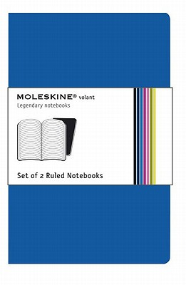 Moleskine Volant Notebook (Set of 2 ), Extra Small, Ruled, Antwerp Blue, Prussian Blue, Soft Cover (2.5 x 4) Cover Image