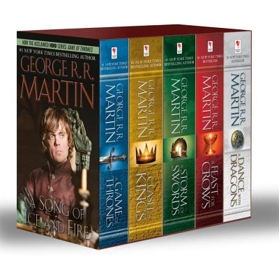 George R. R. Martin's a Game of Thrones 5-Book Boxed Set (Song of Ice and Fire Series): A Game of Thrones, a Clash of Kings, a Storm of Swords, a Feas Cover Image