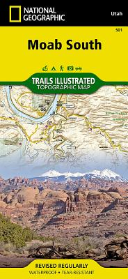 Moab South (National Geographic Maps: Trails Illustrated #501) Cover Image