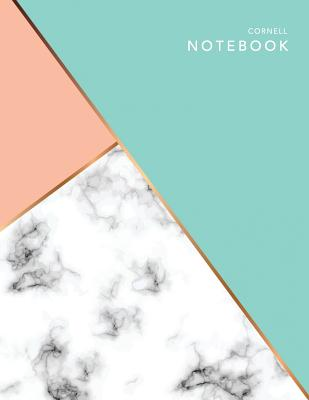 Cornell Notebook: Pastel Marble - 120 White Pages 8.5x11
