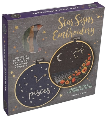 Star Signs Embroidery: Zodiac Patterns to Customize and Create (Embroidery Craft) Cover Image
