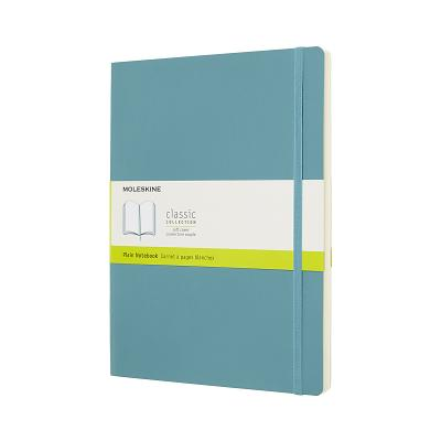 Moleskine Classic Notebook, Extra Large, Plain, Blue Reef, Soft Cover (7.5 x 9.75) Cover Image