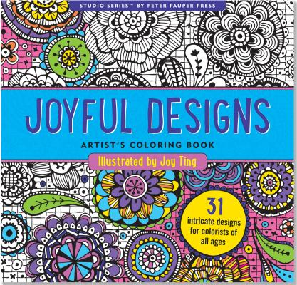 Joyful Designs Adult Coloring Book Cover Image