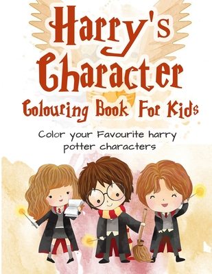Harry Potter Colouring Book: 25+ Magical Illustrations Amazing Harry Potter Characters Colouring Books for Adults and Kids Cover Image