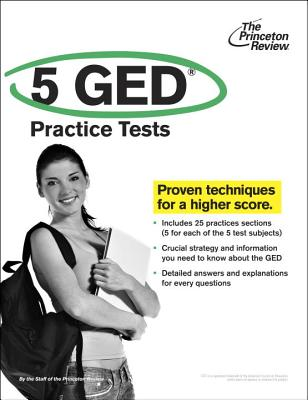 5 GED Practice Tests Cover