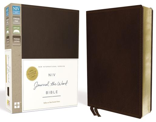NIV, Journal the Word Bible, Genuine Leather, Brown: Reflect, Journal, or Create Art Next to Your Favorite Verses Cover Image