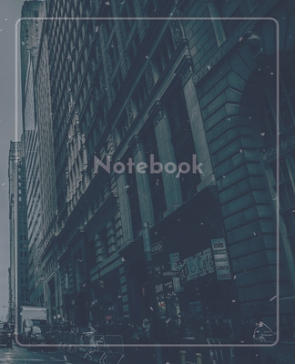 College Notebook: Student notebook Journal Diary Gray City cover notepad by Raz McOvoo Cover Image