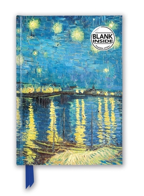 Vincent van Gogh: Starry Night over the Rhône (Foiled Blank Journal) (Flame Tree Blank Notebooks) Cover Image