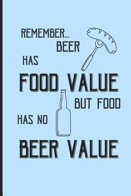 Remember... beer has food value but food has no beer value: Small Funny Lined Notebook / Journal for Beer Lovers Cover Image