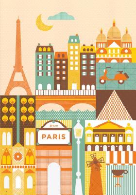 Petit Collage Paris Journal Cover Image