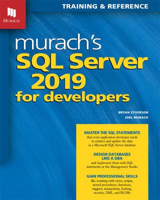 Murach's SQL Server 2019 for Developers Cover Image