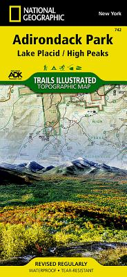 Lake Placid, High Peaks: Adirondack Park (National Geographic Maps: Trails Illustrated #742) Cover Image