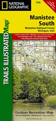 Manistee South [Manistee National Forest] (National Geographic Trails Illustrated Map #759) Cover Image