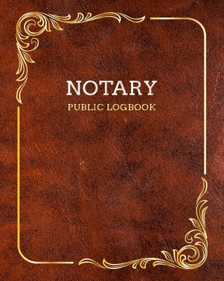 Notary Public Logbook: Vintage Old Leather Design, Notary Notebook, Notary Public Record Book, Notary Receipt Book, Notarial Record Cover Image