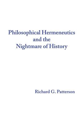 Philosophical Hermeneutics and the Nightmare of History Cover Image