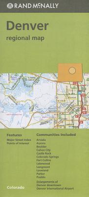 Rand McNally Folded Map: Denver Regional Map Cover Image