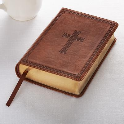 KJV Compact Large Print Lux-Leather Tan Cover Image