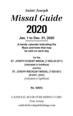 St. Joseph Annual Missal Guide (2020) Cover Image