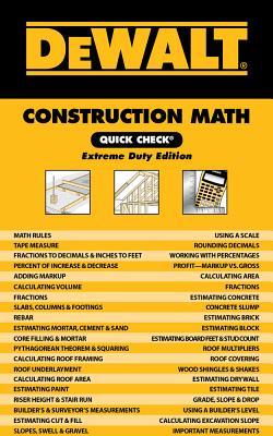 Dewalt Construction Math Quick Check: Extreme Duty Edition Cover Image