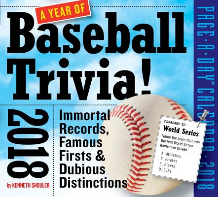A Year of Baseball Trivia! Page-A-Day Calendar 2018 Cover Image
