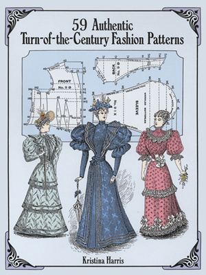 59 Authentic Turn-Of-The-Century Fashion Patterns (Dover Fashion and Costumes) Cover Image