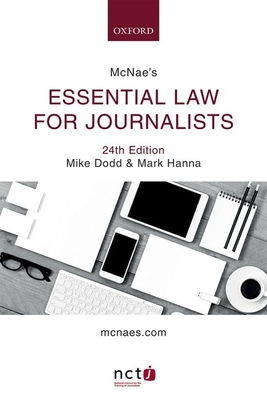 McNae's Essential Law for Journalists Cover Image