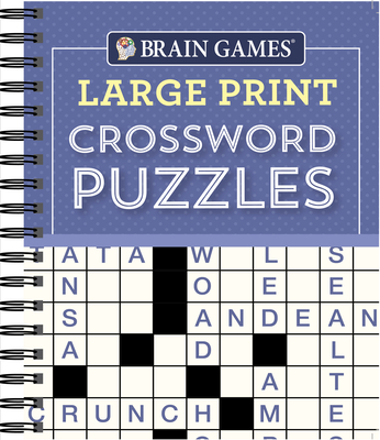 Brain Games - Large Print Crossword Puzzles (Purple) Cover Image